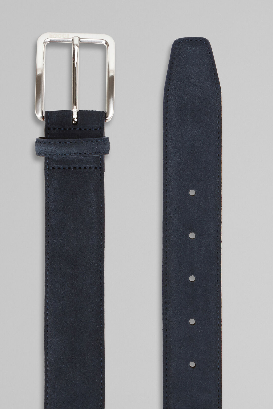 Suede Belt, Navy blue, hi-res