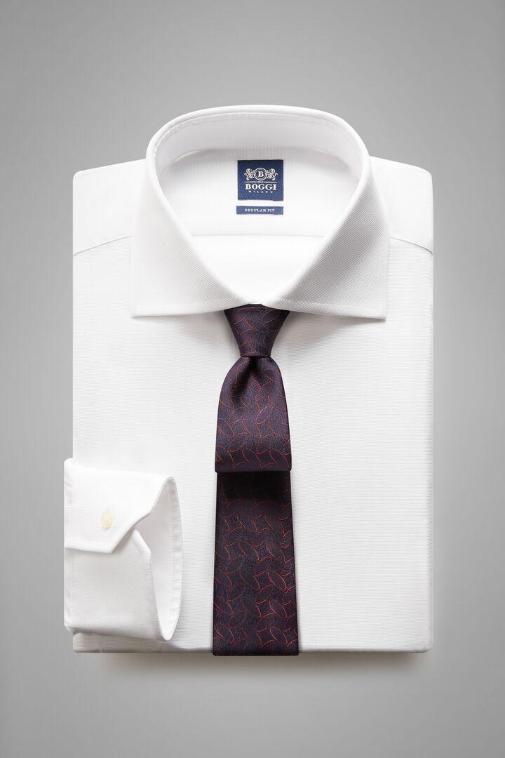 Chemise Blanche À Col Windsor Coupe Régulière, blanc, hi-res