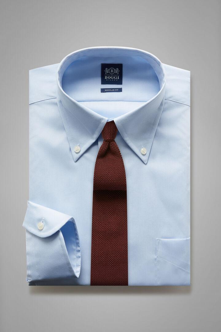 Regular Fit Sky Blue Shirt With Boston Collar, Light blue, hi-res