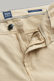 Beige 5 pocket-jeans aus elastischem baumwoll-tencel, Beige, hi-res