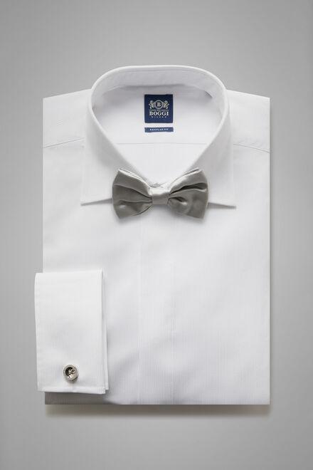 Chemise Blanche En Coton Coupe Droite, blanc, hi-res