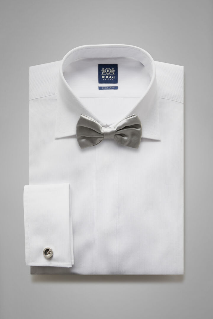 Regular Fit White Shirt With London Collar, White, hi-res