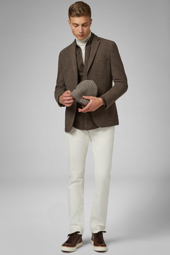 Light Grey Wool Jersey Bari Blazer, Taupe (Turtle-dove), hi-res
