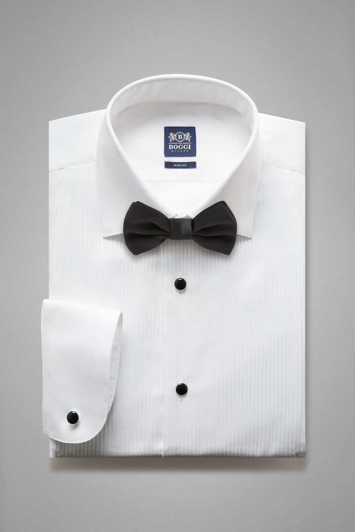 Slim Fit White Shirt With London Collar, White, hi-res