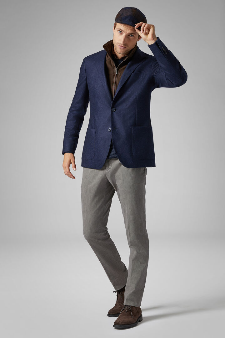 Blue Wool Amsterdam Blazer, Blue, hi-res
