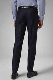 Pantalone Da Abito Navy In Lana Regular, Navy, hi-res
