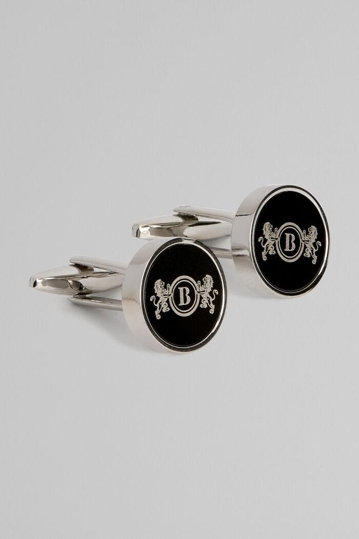 Gemelli Circolari Metallo Logo Leoni, , hi-res