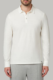 Polo aus baumwolljersey regular fit, Weiß, hi-res