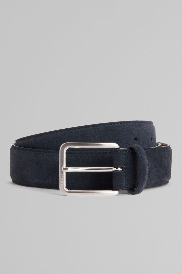 Cintura In Pelle Scamosciata, Navy, hi-res