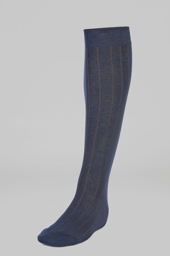 Chaussettes Longues Côte Vanisée, Bleu - bleu clair, hi-res