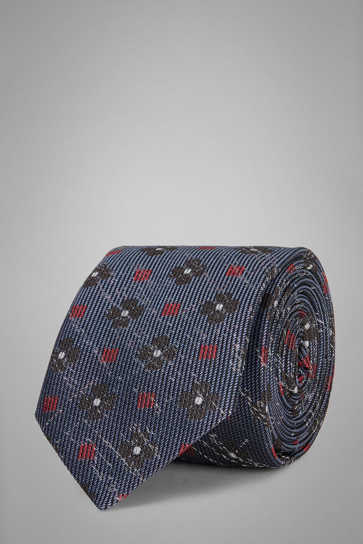 Cravate À Motifs En Soie Jacquard, Air-bleu, hi-res