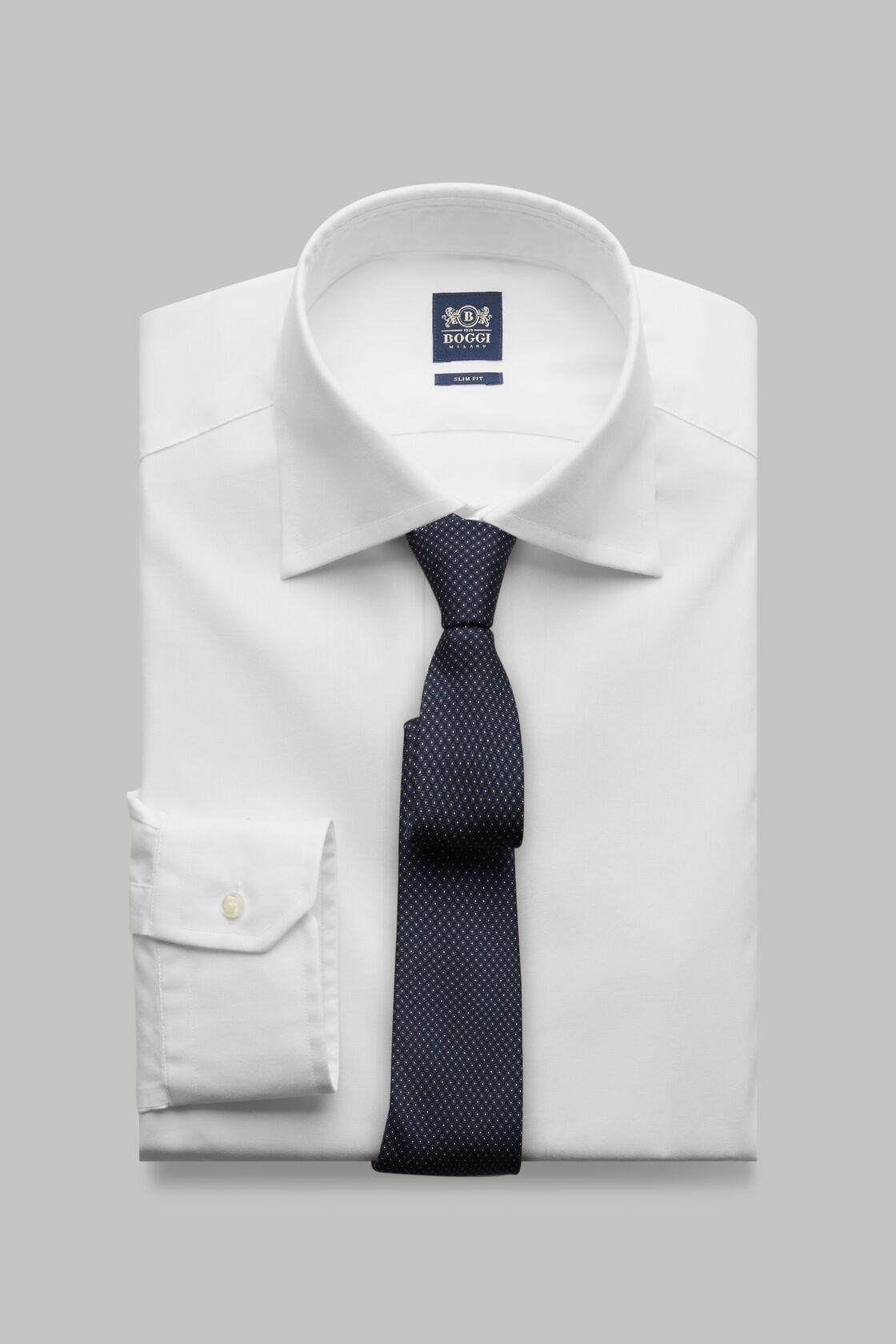 Weißes hemd aus baumwolltwill slim fit, Weiß, hi-res