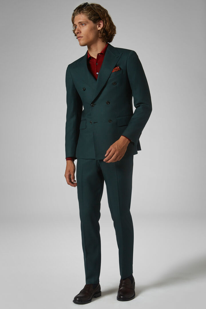 Green Wool Torino Suit, Green, hi-res
