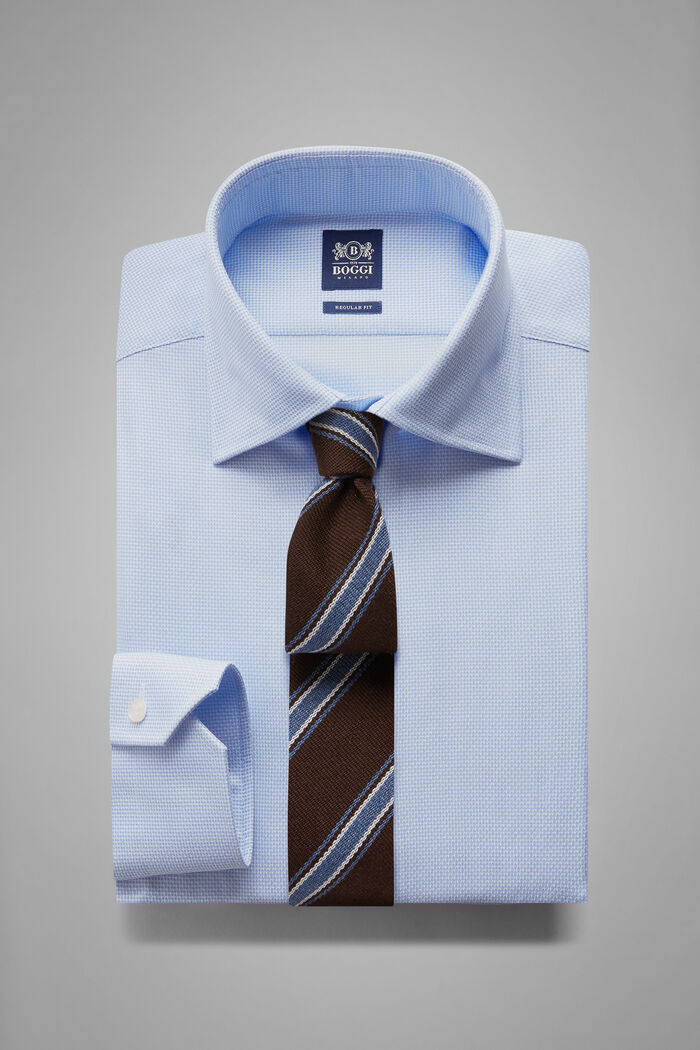 Hemd Azurblau Mit London-Kragen Regular Fit, , hi-res