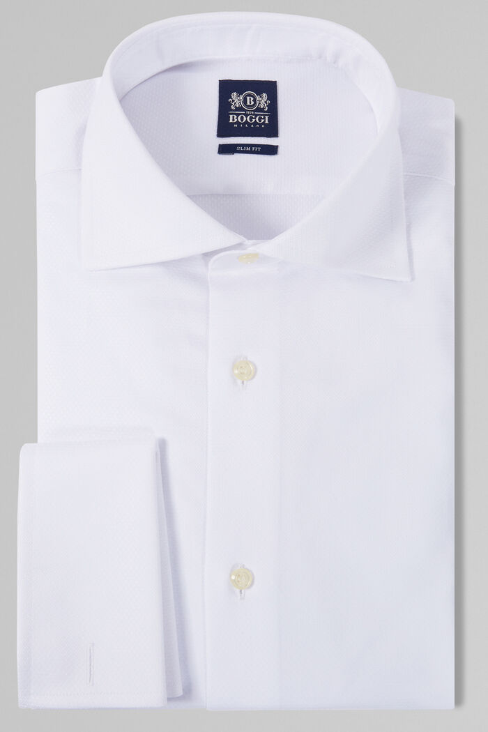 CHEMISE BLANCHE À COL WINDSOR COUPE SLIM, , hi-res