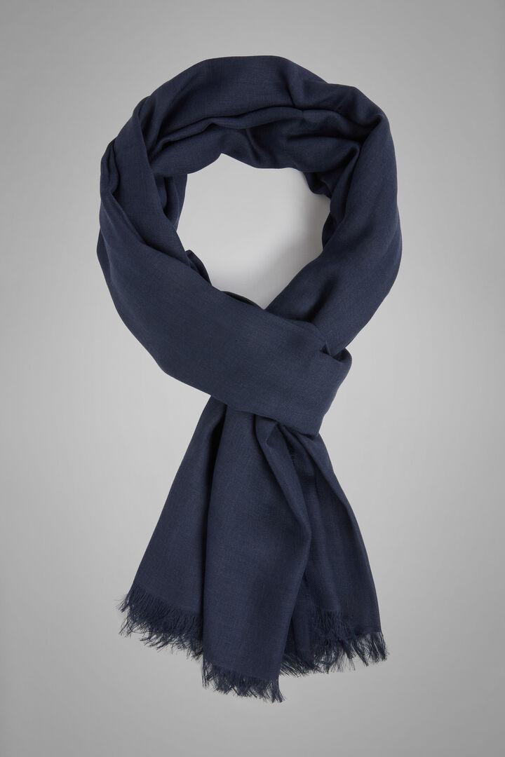 Écharpe Couleur Unie Modal Cachemire, bleu marin, hi-res