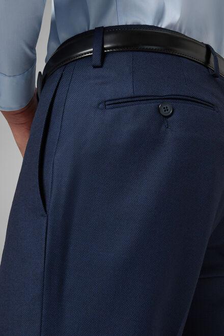 Wollhose regular fit mit pfauenaugenmuster, Bluette, hi-res