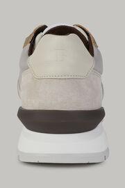 Naturweisse sneakers aus technischem stoff und leder, Beige, hi-res
