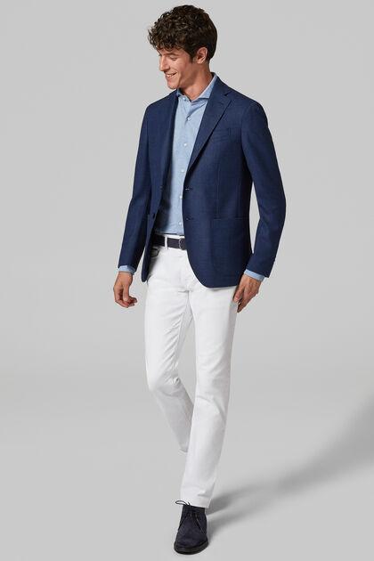 Blue Wool Roma Blazer, Blue, hi-res