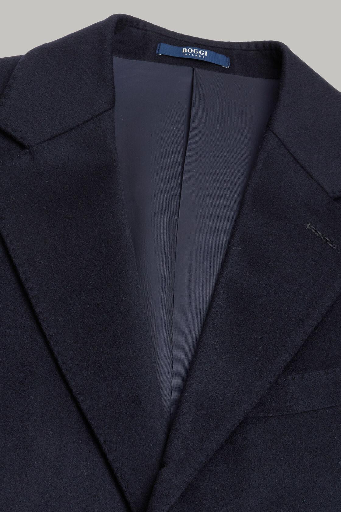 Einreihiger kaschmirmantel, Navy blau, hi-res