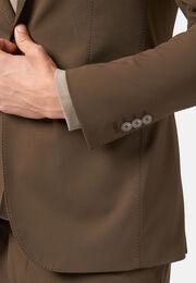Giacca moro in nylon elasticizzato b tech, Marrone, hi-res