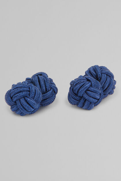 Rope Cufflinks, Blue, hi-res