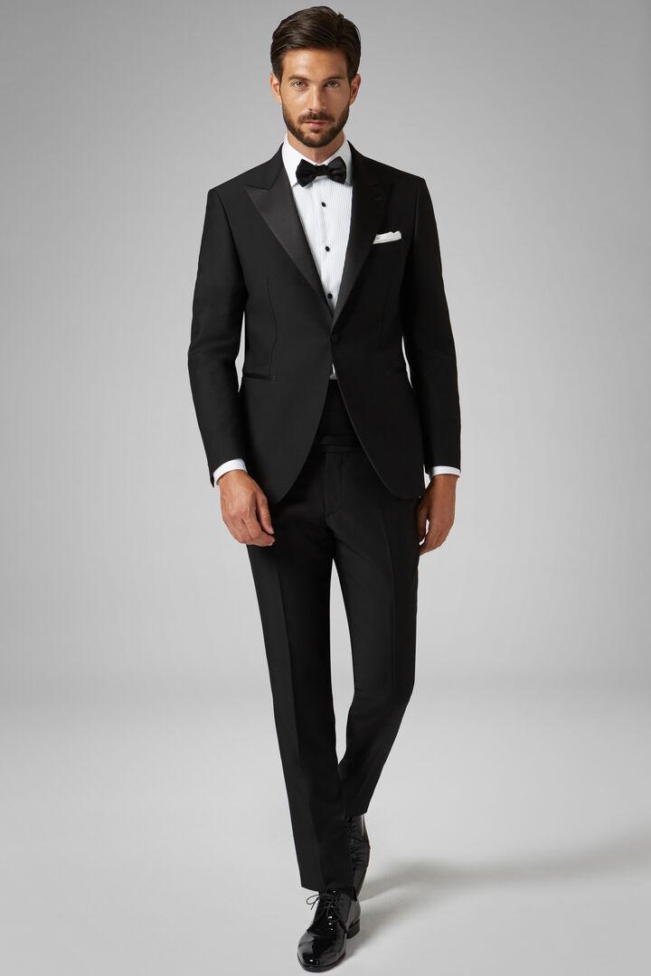 f49fb26a6c3c48 Black Cannes Dinner Suit With Peak Lapels, Black, hi-res