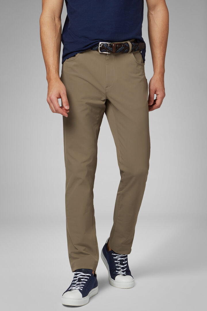 Regular Fit Technical Nylon Trousers, TAUPE, hi-res