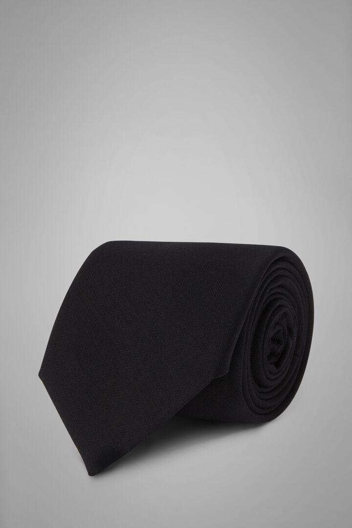 Plain Wool Tie, Blue, hi-res