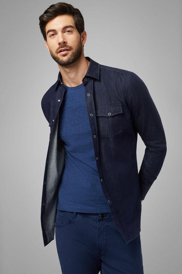 western denim shirt regular fit, Denim, hi-res