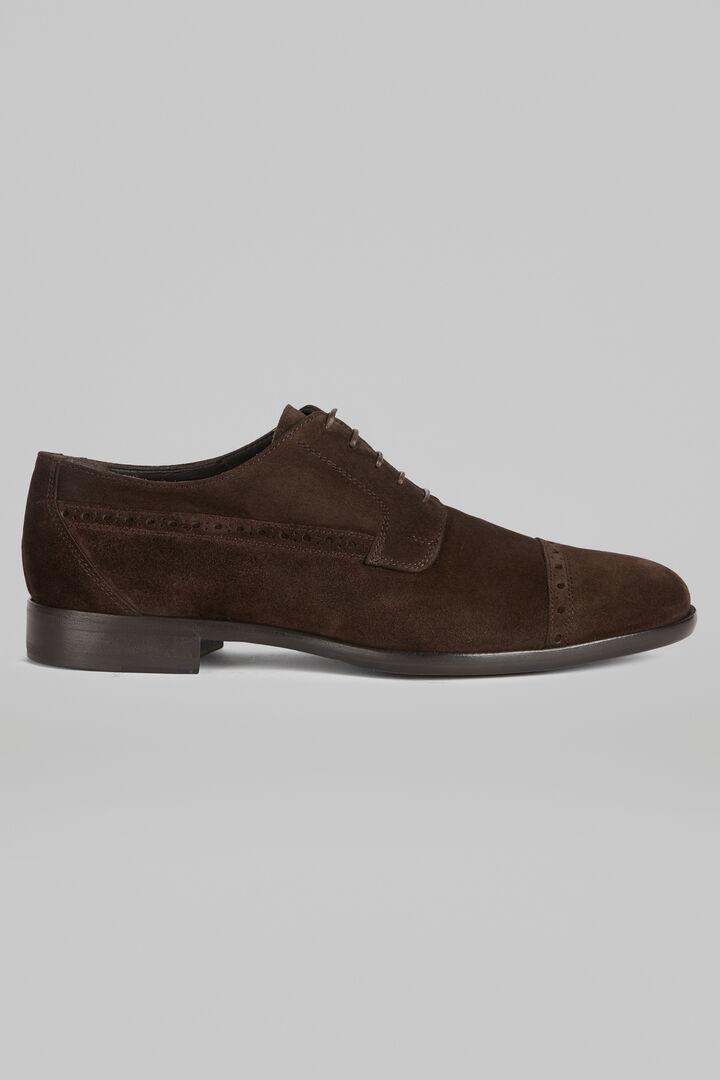 Derby-Schuh Aus Wildleder, Dunkelbraun, hi-res