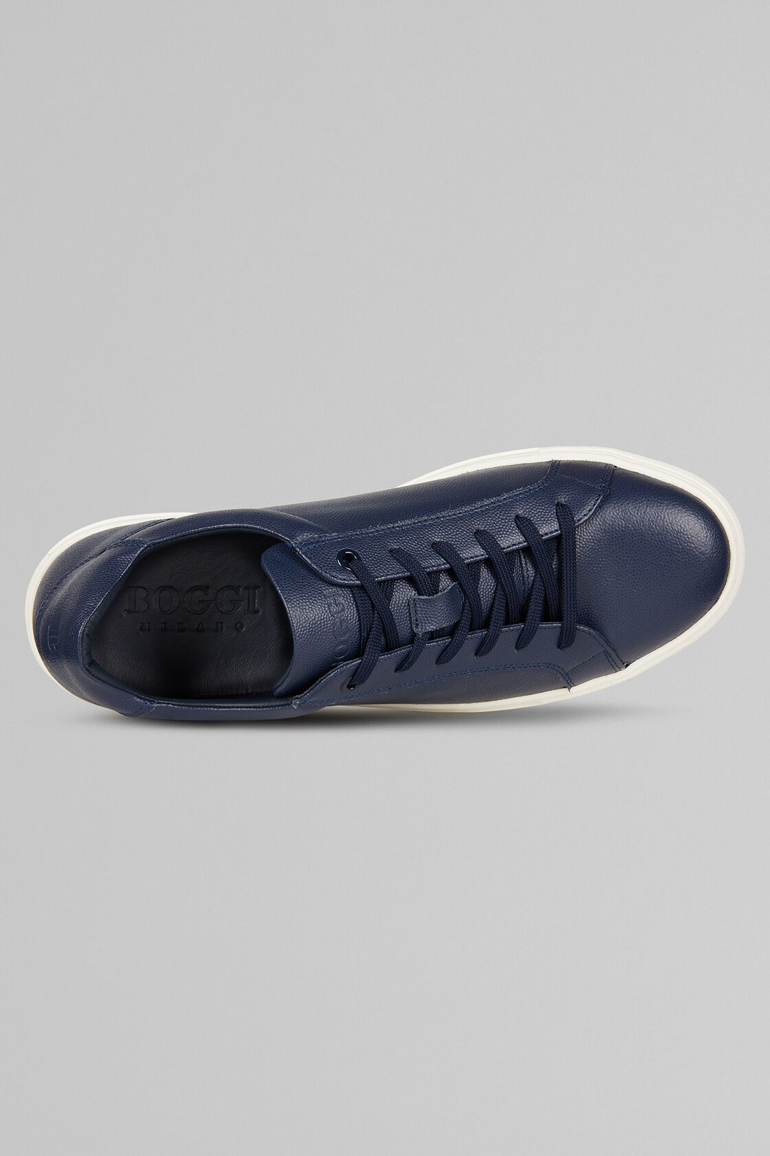SNEAKERS IN PELLE CAVIAR, NAVY, hi-res