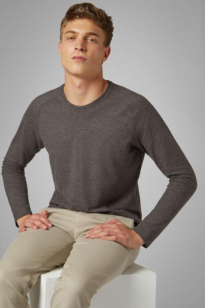 T-Shirt Gris En Jersey De Coton, Gris, hi-res