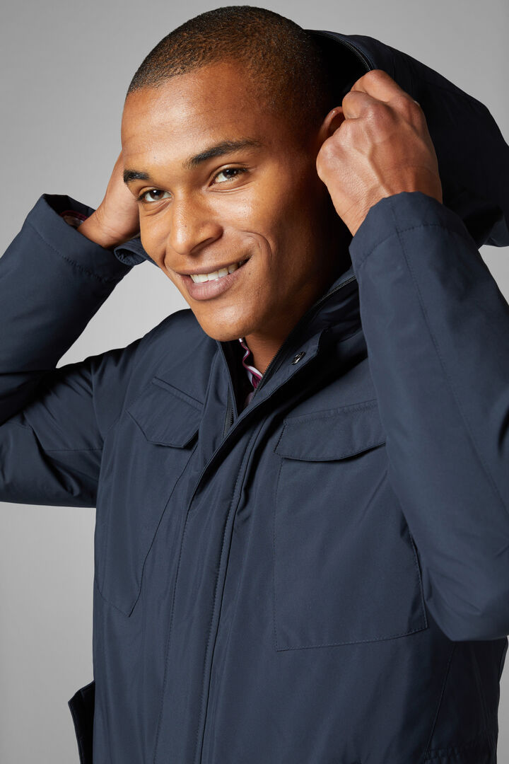 3-Layer Down Field Jacket, Navy blue, hi-res