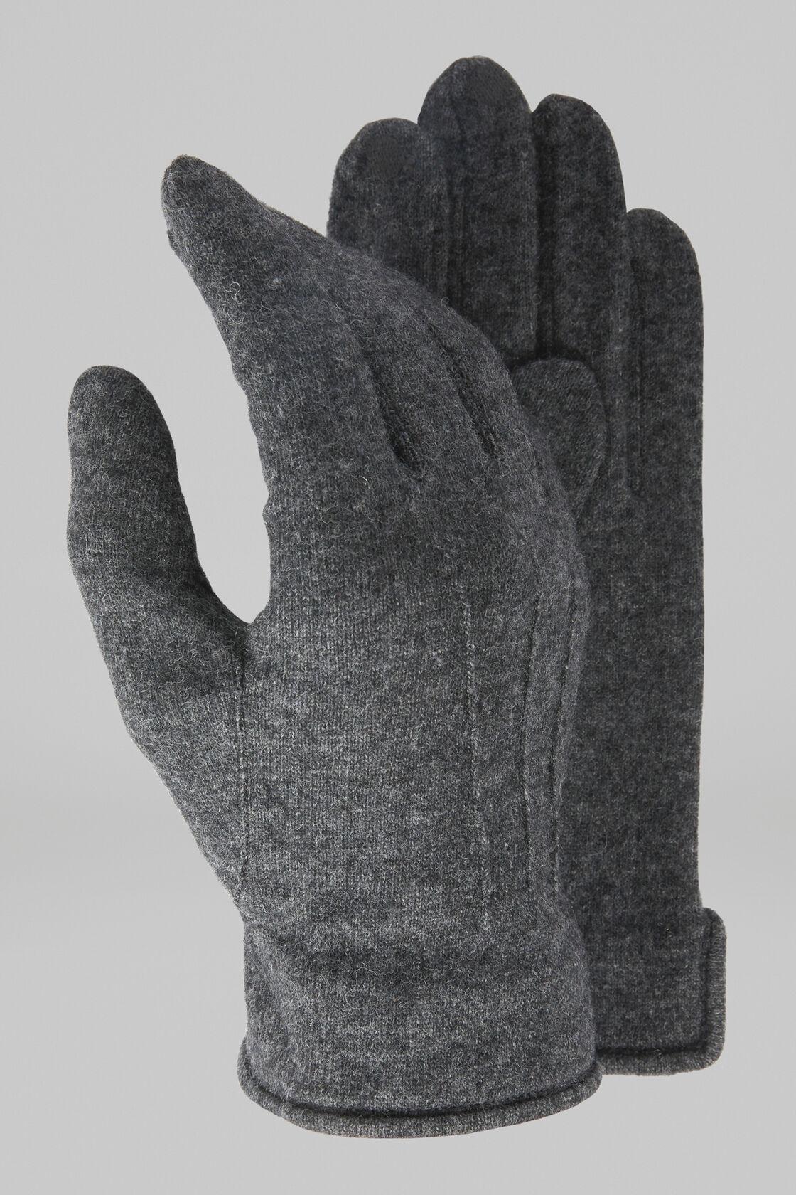 Handschuh Aus Wolljersey, Dunkelgrau, hi-res