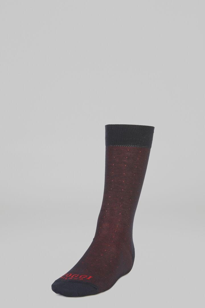 Micro Polka Dot Short Socks, Burgundy, hi-res