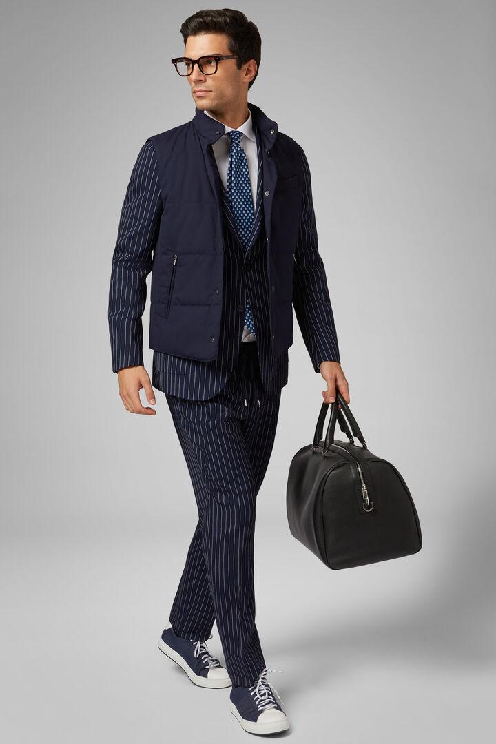 Lined Travel Wool Gilet, Navy blue, hi-res