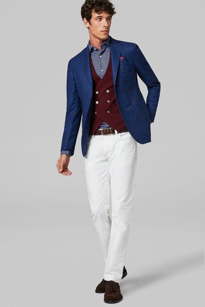 Cornflower Blue Wool Roma Blazer, Bluette, hi-res