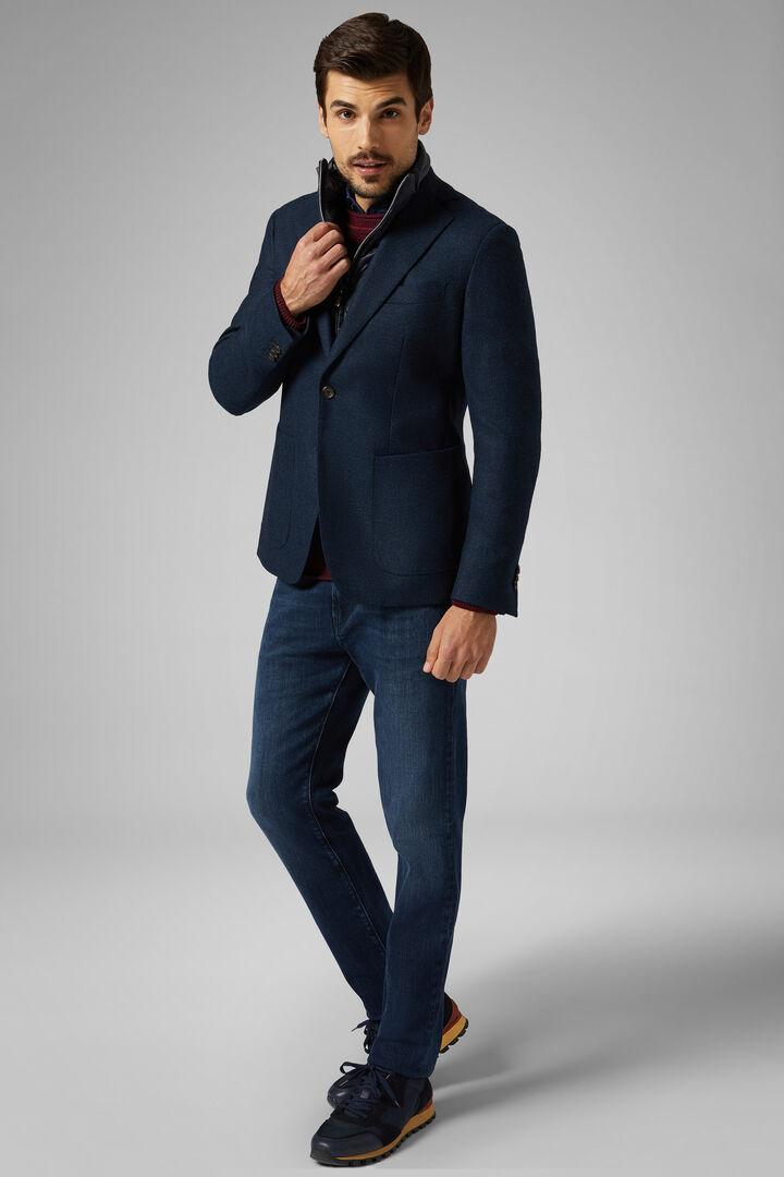 Rust Wool Capri Blazer, Blue, hi-res