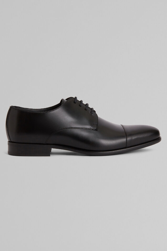 Smooth Leather Derby Shoes With Rubber Soles, , hi-res