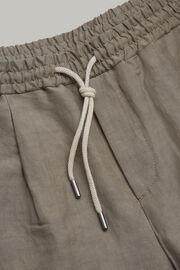 Hose aus elastischem leinen regular fit, Taupe, hi-res