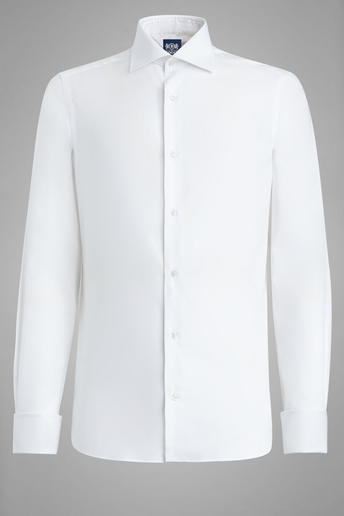 Camicia Bianca Collo Windsor Slim Fit, Bianco, hi-res