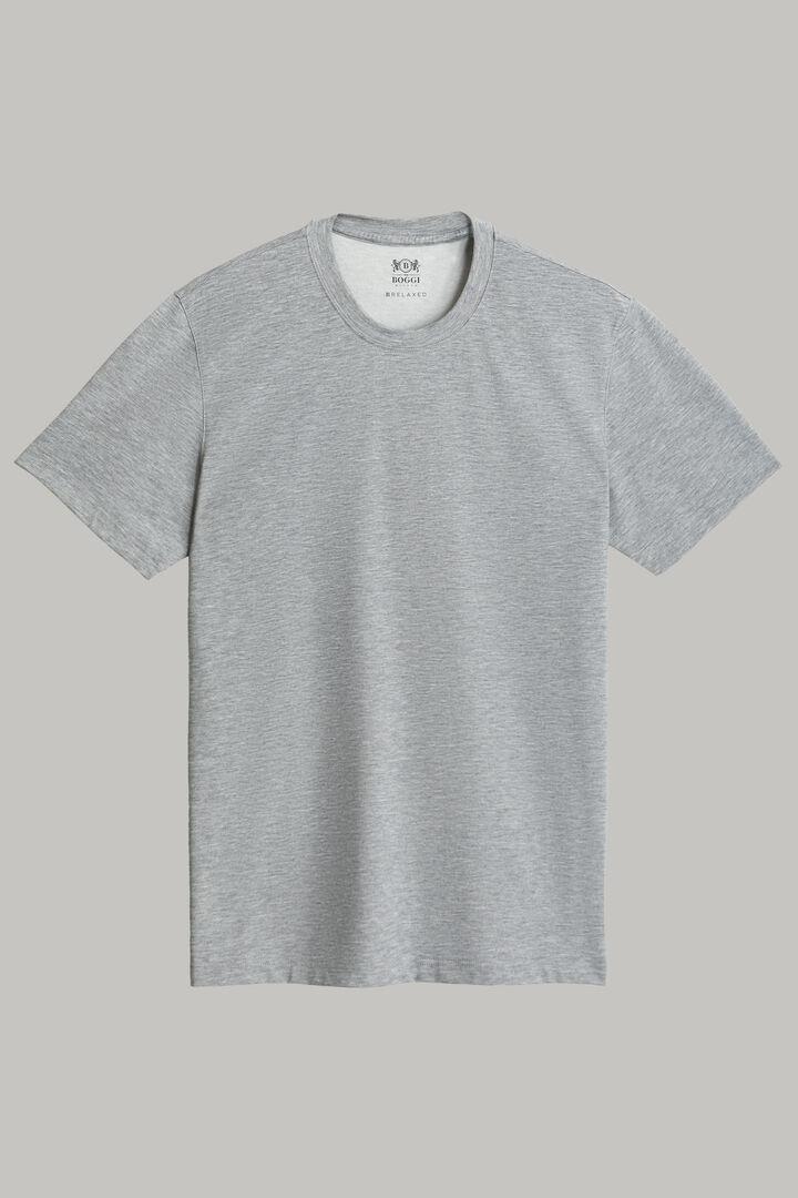 T-Shirt En Jersey De Coton Nylon Tencel, Gris foncé, hi-res