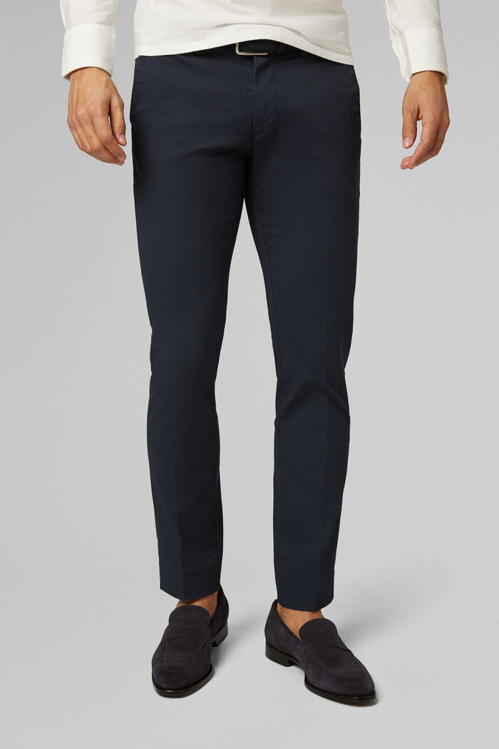 PANTALONE IN COTONE CANNETÈ STRETCH SLIM FIT , , hi-res