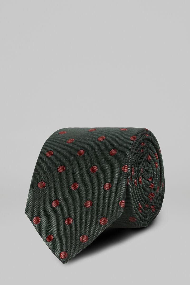 Cravate À Pois En Soie Jacquard, vert, hi-res
