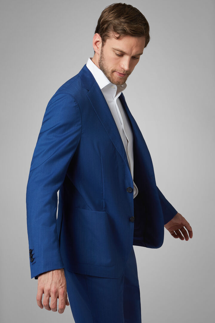 Cornflower Blue Wool Blend Aria Blazer, Bluette, hi-res