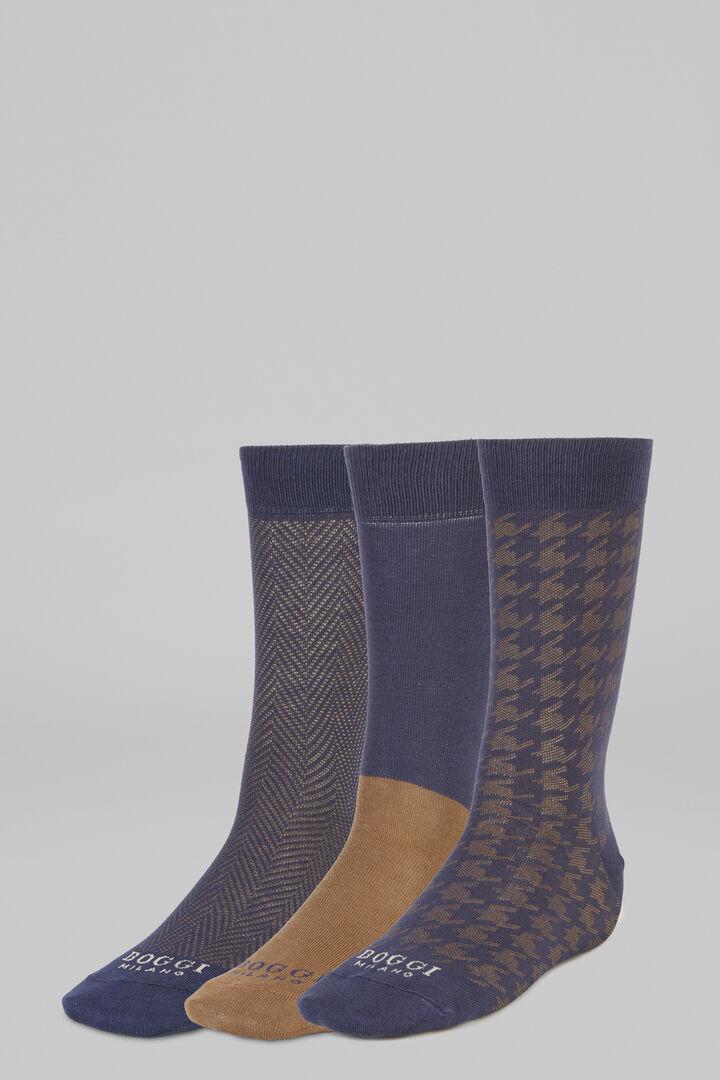 Lot De 3 Chaussettes Courtes, Bleu - Brown, hi-res