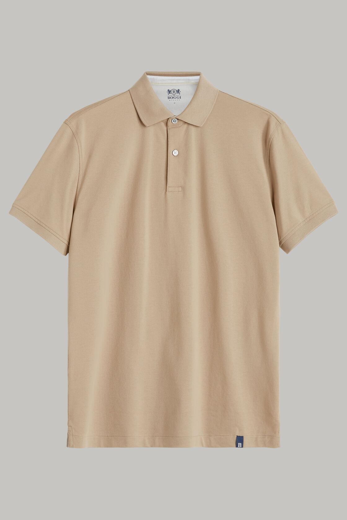 Polo aus baumwollpiqué regular fit, Beige, hi-res