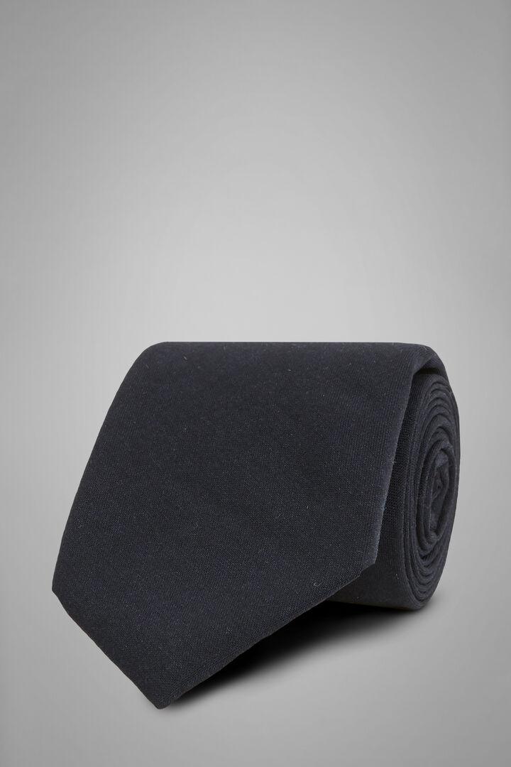 Cravatta Unita In Lana Tecnica, Navy, hi-res