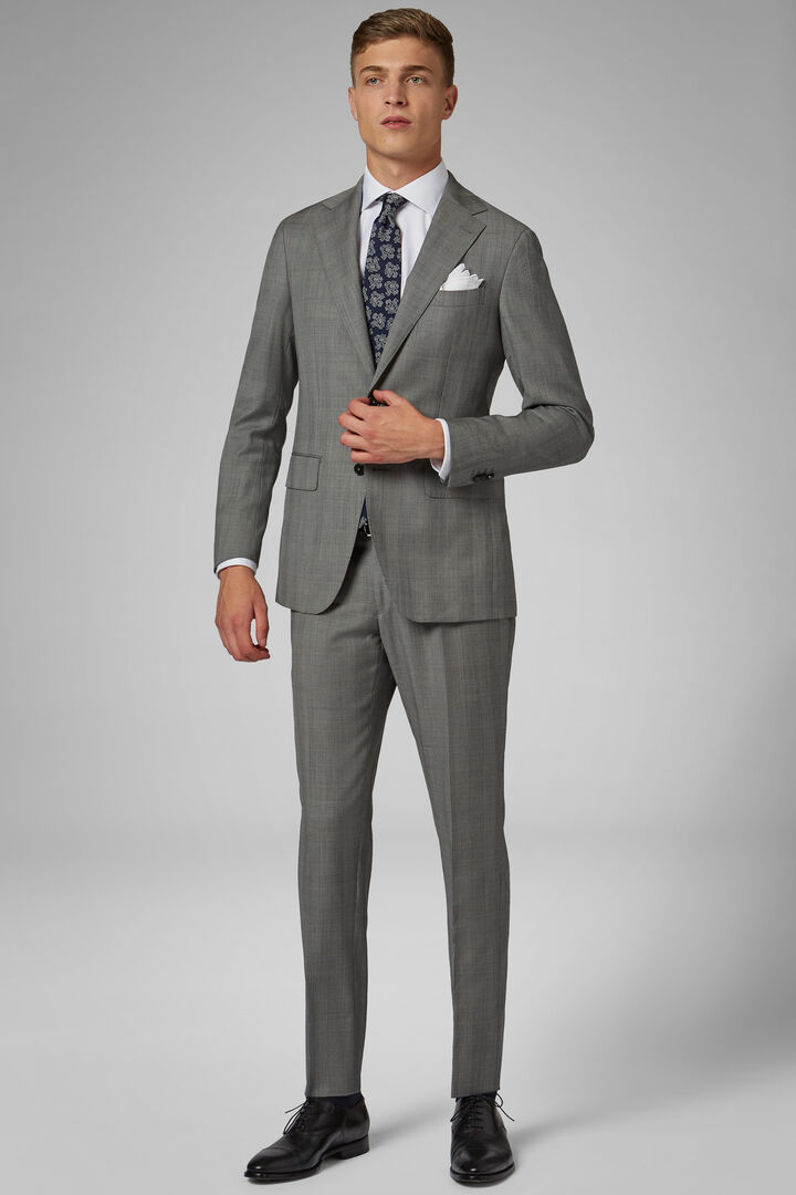 Grey Wool Milano Suit, Grey, hi-res